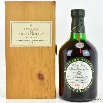 Alfred Lamb's 1939 Special Reservation Rum 75cl