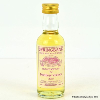 Springbank Private Bottling For Distillery Visitors 2015 Mini 5cl