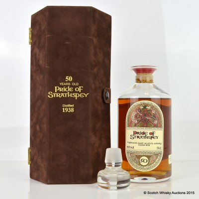 Pride Of Strathspey 1938 50 Year Old G&M Decanter 75cl