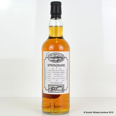 Springbank Open Day 2015 7 Year Old Sauternes