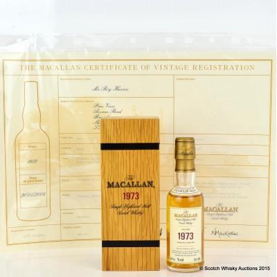 Macallan Fine & Rare 1973 Mini 5cl With Certificate