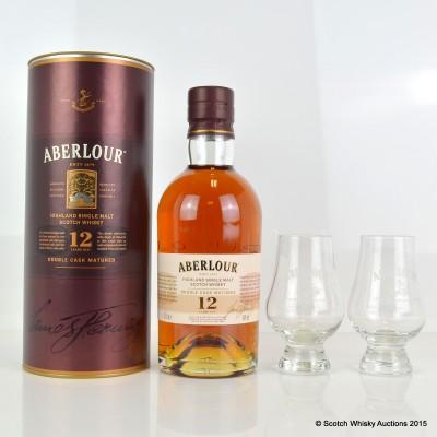 Aberlour 12 Year Old & 2 x Tasting Glasses