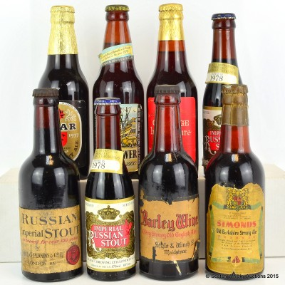 Assorted Vintage Beers x 8 Including Barclay Perkins Russian Imperial Stout Circa 1943