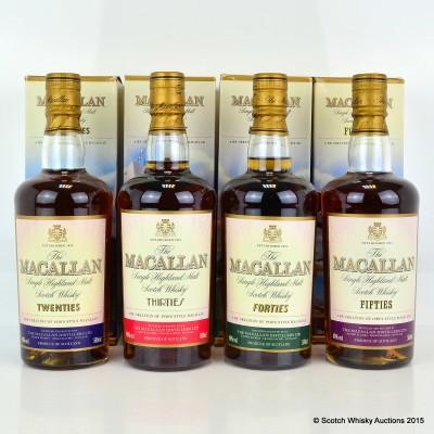 Macallan Decades Collection - Twenties, Thirties, Forties & Fifties 4 x 50cl