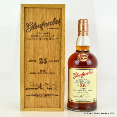 Glenfarclas Distillery Exclusive 1988 25 Year Old