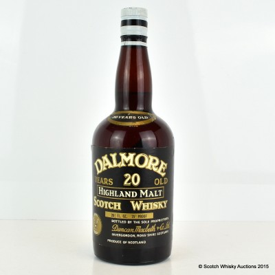 Dalmore 20 Year Old 26 Fl Ozs