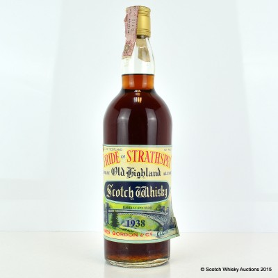Pride of Strathspey 1938 75cl