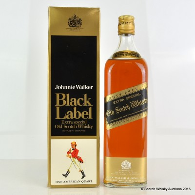 Johnnie Walker Black Label 12 Year Old 1 Quart