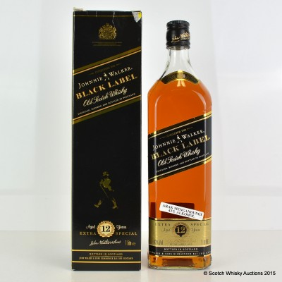 Johnnie Walker Black Label 12 Year Old 1L