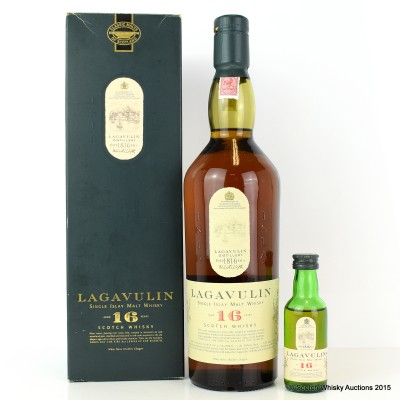 Lagavulin 16 Year Old White Horse & Matching Mini