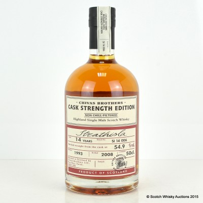 Chivas Brothers Strathisla Cask Strength 1993 14 Year Old 50cl