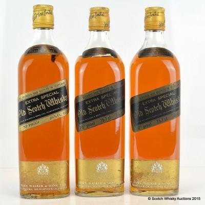 Johnnie Walker Black Label 26 2/3 Fl Ozs x 3