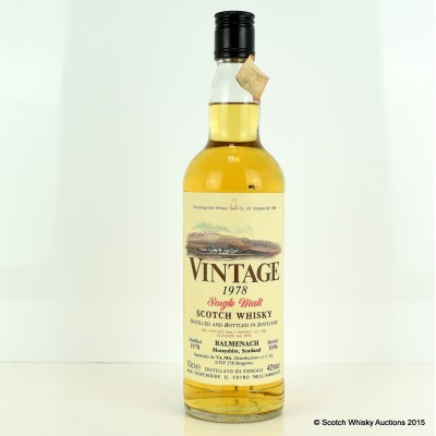 Balmenach 1978 Vintage Malt Whisky Co