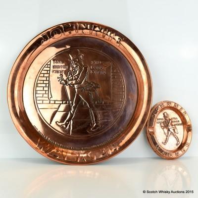 Johnnie Walker Copper Tray & Ash Tray