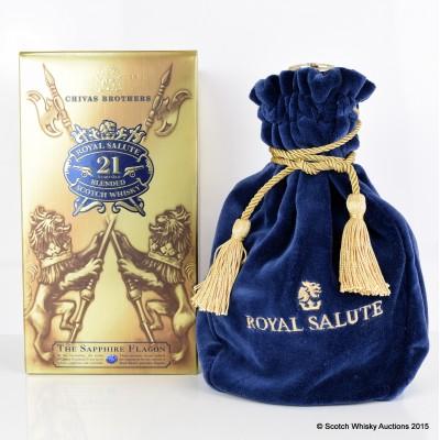 Chivas Royal Salute 21 Year Old Sapphire Flagon