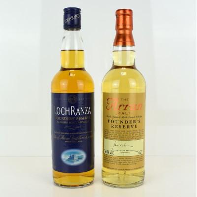 Arran Founder's Reserve & Lochranza Founder's Reserve