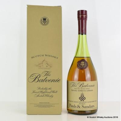 Balvenie Founder's Reserve Cognac Bottle Queen's Award for Pauls & Sandars 75cl
