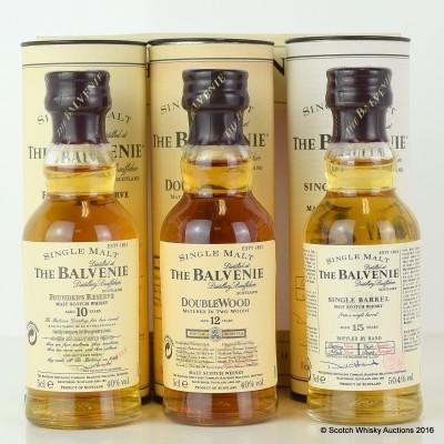 Balvenie Mini Selection 3 x 5cl