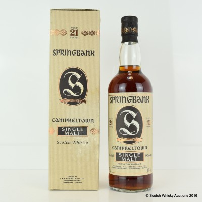 Springbank 21 Year Old Old Style