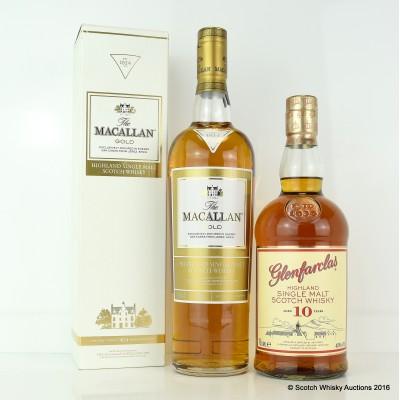 Glenfarclas 10 Year Old & Macallan Gold