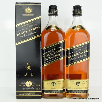 Johnnie Walker Black Label 12 Year Old 2 x 1L