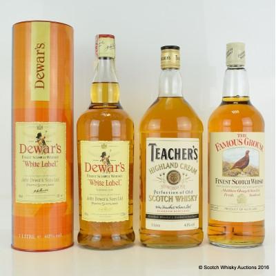 Teacher's Highland Cream 1L, Famous Grouse 1L & Dewar's Label 1L
