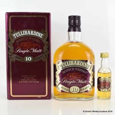 Tullibardine 10 Year Old Old Style 75cl & Matching Mini 5cl
