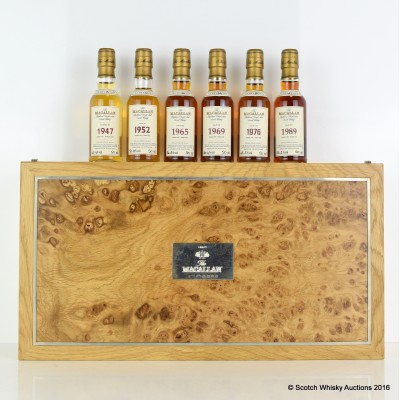Macallan Fine & Rare Miniature Collection 6 x 5cl In Linley Box