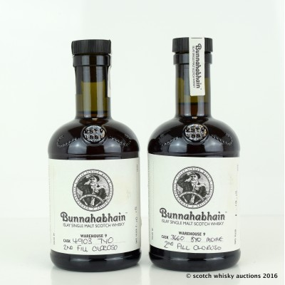 Bunnahabhain Feis Ile 2015 Open Day Hand Filled 2nd Fill Oloroso 7 Year Old & 2nd Fill Oloroso 8 Year Old 20cl x 2
