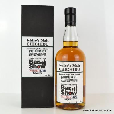 Ichiro's Malt Chichibu Quarter Cask #287 for The Tokyo Bar Show 2012