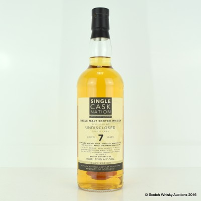 Undisclosed Islay Malt 2008 7 Year Old Single Cask Nation 75cl