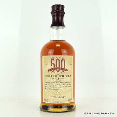 William Grant's 18 Year Old Celebrating 500 Years of Scotch Whisky