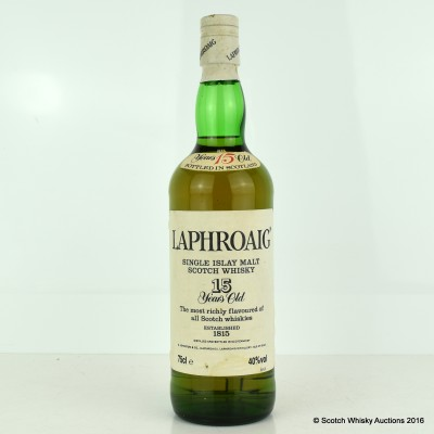 Laphroaig 15 Year Old Pre Royal Warrant 75cl
