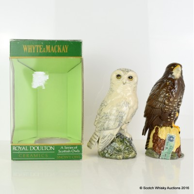 Whyte & Mackay Birds of Prey Decanters 2 x 20cl