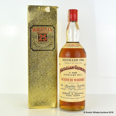 Macallan 1946 25 Year Old G&M 75cl