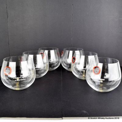 Remy Martin Coeur de Cognac Riedel Glasses x 6