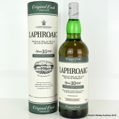 Laphroaig 10 Year Old Original Cask Strength Old Style 1L
