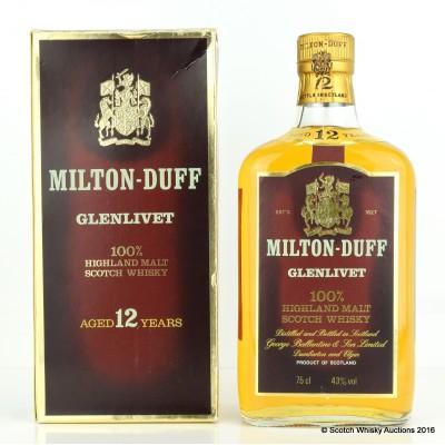 Milton-Duff Glenlivet 12 Year Old 75cl