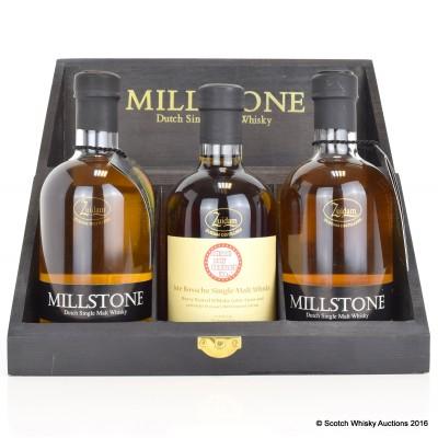 Millstone Dutch Whisky 3 x 35cl Set