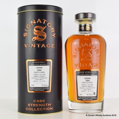 Ledaig 2004 10 Year Old Signatory