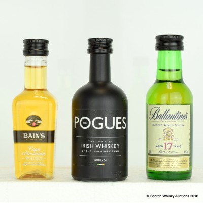 Assorted Minis 3 x 5cl Including Pogues Mini 5cl