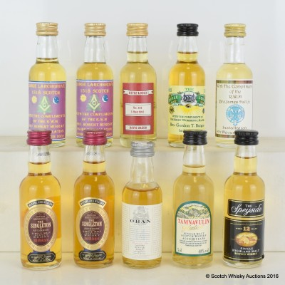 Assorted Minis x 10 Including Oban 14 Year Old 5cl