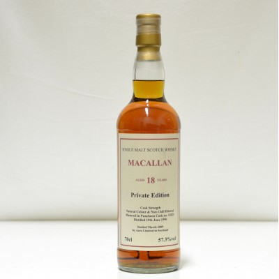 Macallan 18 Year Old Cask Strength Private Edition