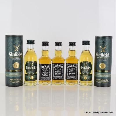 Assorted Miniatures 5 x 5cl Including Glenfiddich Select Cask 5cl