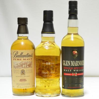 Ballantine's Pure Malt, Glen Marnoch & Ben Brachan 12