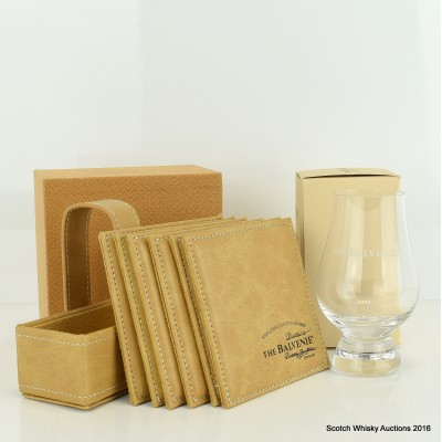 Balvenie Tasting Glass & Leather Coasters