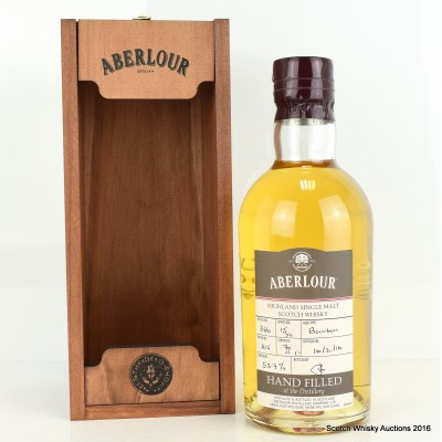 Aberlour Distillery Only Hand Filled Bourbon Cask 15 Year Old