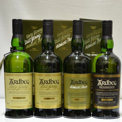 Ardbeg Very Young, Still Young, Almost There & Rennaisance