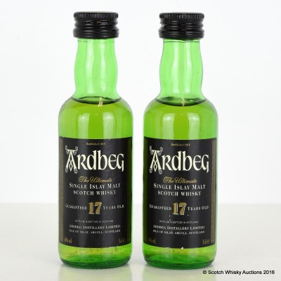 Ardbeg 17 Year Old Minis 2 x 5cl