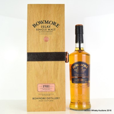 Bowmore 1981 28 Year Old Vintage Release